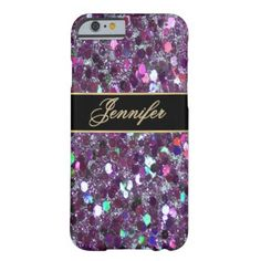 Glitter Party Chic Fun iPhone 6 Case A very pretty pretty and sparkly looking case in shades of purple and other colors. #glitter #glittery #sparkle #glam #girly #party #multi #colors purple...