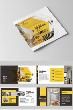 High-end atmosphere complete furniture Brochure design Graphic Design Brochure, Brochure Layout, Furniture Brochure, Powerpoint Design Templates, Brochure Template, Company Profile Design, Banner Design Inspiration, Folders, Page Layout Design
