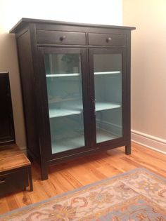 Inspirational Black Wood Cabinet with Doors
