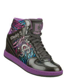 Love this Daddy's Money by Skechers Black & Purple Moolah Wonderland Sneaker by Daddy's Money by Skechers on #zulily! #zulilyfinds