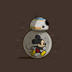 Mickey Mouse & BB-8 - Star Wars