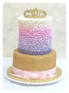 Ruffles and Sugar, Princess Themed, Buttercream Cake