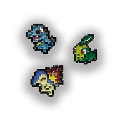 Generation 2 Starter Pins, Totodile Pin, Chikorita Pin, Cyndaquil Pin, Pokemon Pin, Totodile, Chikorita, Cyndaquil, Pokemon