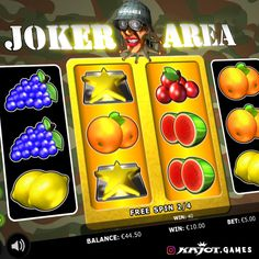 Attention: luck is firing on all cylinders in the Joker Area! Four reels spin at your command and if the well camouflaged joker falls in on the middle paylines, you get four bonus games per joker. So your marching orders are to play, win and have fun! Up And Running, Online Casino, Spinning, Have Fun, Joker, Middle, Play, Games, Hand Spinning