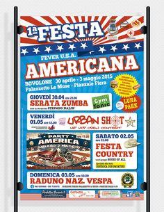 Festa Americana: ideazione grafica e stampa di poster per affissione