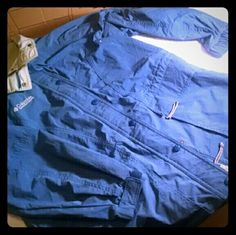 Women Small Blue Columbia Sportswear Jacket Women small blue  tan lining Columbia Jacket Columbia Jackets & Coats