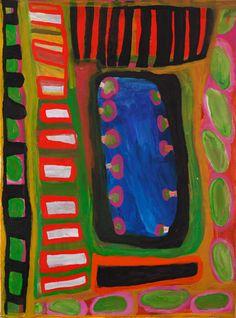 Dolly Jukuja Snell - 'Kutamarti'   Aboriginal Art   Outstation
