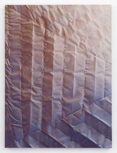 Tauba Auerbach, Untitled (Fold), 2012, Acrylic on canvas / Wooden Stretcher, 152,4 x 114,3 cm © Tauba Auerbach