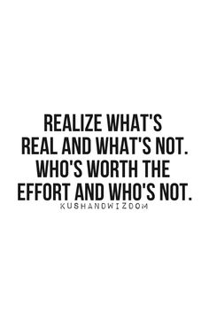Realize.