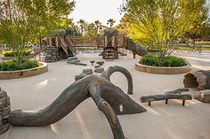 Introduce #kids to #nature with this nature-inspired Tree Branch Theme #Playground. This beautiful design is located at Sunset Park in Las Vegas.