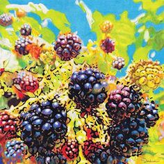 Wildberries - Colored Pencil Artwork by Rhonda Dicksion Colored Pencil Artwork, Color Pencil Art, Colored Pencils, Selling Art Online, Online Art, Pencil Drawings, My Drawings, Artist At Work, Bold Colors
