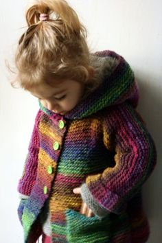 Little Niji. Kids Knitting Patterns, Knitting For Kids, Knitting Designs, Baby Afghan Crochet, Crochet Cardigan Pattern, Knit Crochet, Woolen Clothes, Baby Poncho, Knit Baby Sweaters