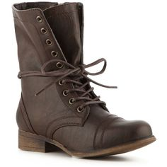 Madden Girl Gamer Combat Boot ($60) ❤ liked on Polyvore