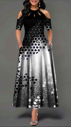 Material: Polyester Silhouette: A-Line Dress Length: Ankle-Length Sleeve Length: Half Sleeve Neckline: Round Neck Waist. Tight Dresses, Casual Dresses, Short Sleeve Dresses, Summer Dresses, Maxi Dresses, Trendy Dresses, Long Sleeve, Spandex Dress, African Dress