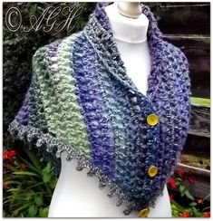 Dawn Treble Mesh Shawl By AG Handmades - Free Crochet Pattern… Crochet Prayer Shawls, Crochet Shawls And Wraps, Crochet Scarves, Crochet Clothes, Crochet Hooks, Free Crochet, Knit Crochet, Shawl Patterns, Crochet Patterns