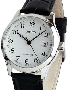 3a02b9fcf59 Aristo 4H70 Classic Swiss Automatic Dress Watch with White Dial