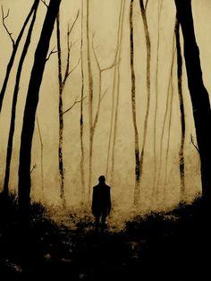 Alone in golden solitude