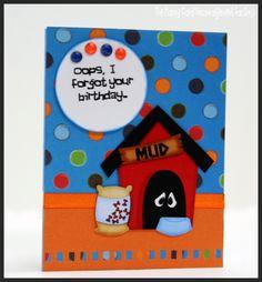 Belated birthday card using Print N Cut files from KristiDailey.com