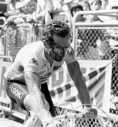 Bernard Hinault after a crash in the 1985 Tour de France