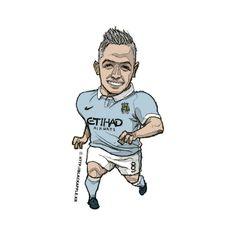 Manchester City No.8 Samir Nasri Fan Art