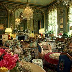 Countess D'Ornano residence.  Interior by Henri Samuel
