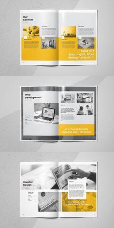 Golex Doit Portfolio #brochure #template #indesign #templates #business #corporate #portfolio Graphic Design Brochure, Brochure Layout, Graphic Design Typography, Brochure Template, Indesign Templates, Magazine Layout Design, Book Design Layout, Editorial Design, Editorial Board