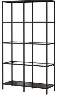 IKEA  vittsjo shelf unit - black with glass shelves, or can transform into white with birch shelves line Centsational Girl.