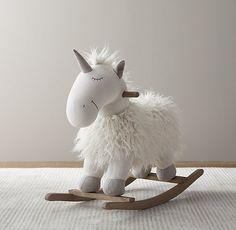 Wooly Plush Rocking Unicorn