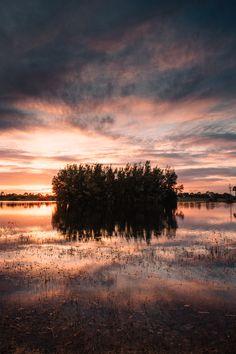 West Palm Beach Florida Sunset Reflection Photography