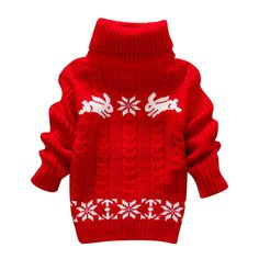 Hot Sale Winter Kids Infant Baby Cartoon Sweater Girls Clothes Child Pullover Girl Turtleneck Sweaters Children Warm Outerwear #>=#>=#>=#>=#> Click on the pin to check out discount price, color, size, shipping, etc. Save and like it!