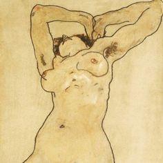 Reclining nude, 1918 #schiele #egonschieleswomen #egonschiele