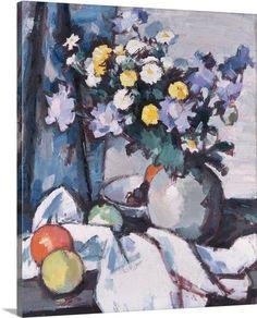 Michaelmas Daisies and Oranges, c.1925 (oil on canvas)