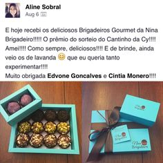 """@alinesobral01 we are very glad to hear you enjoyed your box of brigadeiros from """"Cantinho da Cy""""s giveaway!!"""