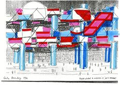 Yona Friedman Centro Pompidou, París, 1970 © Yona Friedman