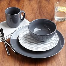 Modern Dinnerware Sets Dinner Plates and Bowl & Textured Dinnerware Set - White | ORCHARD RD: Dining/Kitchen by ...