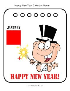 Happy New Year Calendar Pin-up Game