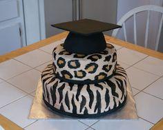 Cheetah/Zebra Cake #cakesbymeg