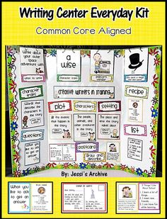 Interactive and creative writing center start-up kit for K-3.