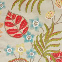 Samba Fabric - Multi (J827F-02) - Jane Churchill Samba Fabrics  Collection