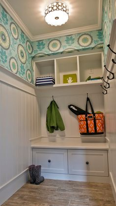 """*** Amy Butler Wallpaper """"Ocean"""" would love this in my future walk in closet"""