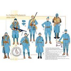 Le soldat d'infanterie, 1916-1918