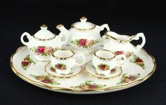 Royal Albert Old Country Roses Miniature Tea Set 1st Quality VGC