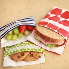 Lunch Skins - Reusable snack and sandwich bags (dishwasher safe!)