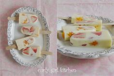 Curly Girl Kitchen: Strawberry Orange Creamsicles on a Chilly Rainy Day...