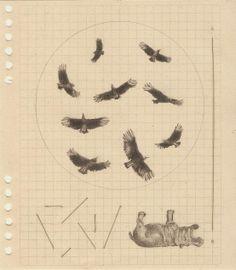 grafito e hilo sobre papel 2014 16. 5 x 14 cm