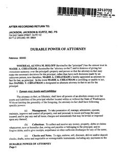 Printable Sample Power Of Attorney Form
