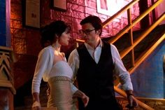 Still of Tom Welling and Erica Durance in Smallville