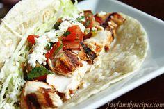 Grilled mahi mahi tacos. looks yummy