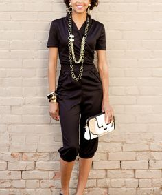 Black Licorice Stick Jumpsuit