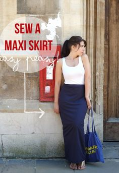 10 steps to a killer DIY maxi skirt. A simple tutorial guiding you through all you need to know to sew your own awesome DIY maxi skirt | Randomly Happy